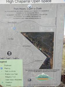 Trail map of High Chaparral.