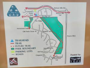 Another map. This time also showing part of the Homestead Trail as well.