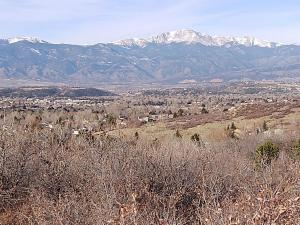 Pikes Peak from the top of the trail.