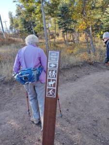 Lower Twilight Trail sign.