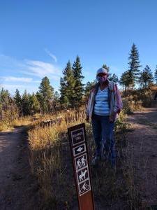 Deerpath Trail sign.
